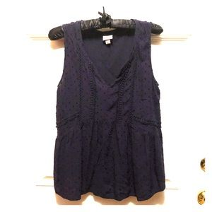Merona navy blue blouse